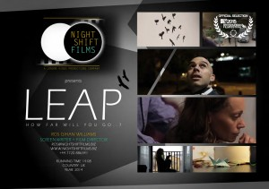 Our short film 'Leap' has been shortlisted and will be screened at the British Urban Film Festival... wish us luck!!!